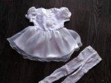 Платье нарядное + колготки новое. Фото 1.