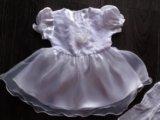 Платье нарядное + колготки новое. Фото 2.