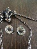 Бижутерия кулон на цепочке и серьги. Фото 2.