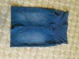Джинсовая юбка для беременных. Фото 1.