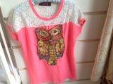 Или обмен футболка с совой с пайетками joy. Фото 1.