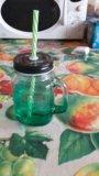 Банка для напитков mason jar. Фото 2.