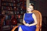 Платье синее concept club. Фото 1.
