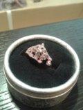 Кольцо пантера с кристаллами. Фото 1.