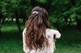 Заколка-гребешок на свадьбу. Фото 3.