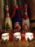 Подсвечник. новогодние украшения. Фото 2.