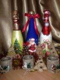 Подсвечник. новогодние украшения. Фото 3.