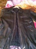 Кожанная куртка,мужская, удлиненная размер 52-54. Фото 2.