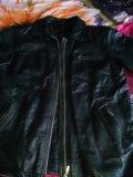 Кожанная куртка,мужская, удлиненная размер 52-54. Фото 1.