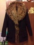 Куртка зимняя(пихора) с натуральным мехом  xs-s. Фото 1.