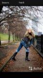 Турецкая джинсовая куртка с мехом. Фото 1.