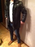Кожаная зимняя куртка (мех - бобер). Фото 4.