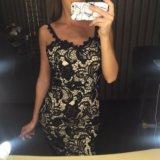 Платье кружевное чёрное. Фото 3.
