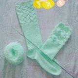 Вязаные гетры носки шапки. Фото 2.