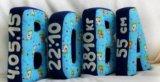 Буквы подушки из ткани ручной работы. Фото 2.