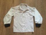 """Рубашка с """"кожаными"""" вставками на рукаве. Фото 1."""