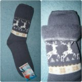 Теплые носки с начесом. без резинки. Фото 1.