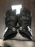 Мото перчатки alpinestars мотоперчатки кожаные. Фото 1.