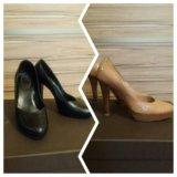 Туфли lerre, черные и бежевые. Фото 1.