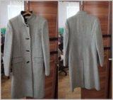 Пальто демисезонное драповое. Фото 1.