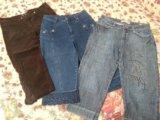 Укороченные брюки/ бриджи (джинсовые, вельветовые). Фото 1.