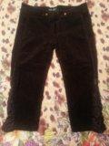 Укороченные брюки/ бриджи (джинсовые, вельветовые). Фото 3.