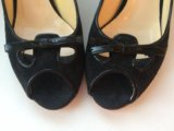 Чёрные замшевые туфли grey mer. Фото 1.