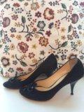 Чёрные замшевые туфли grey mer. Фото 2.