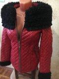 Куртка зимняя эко кожа. Фото 3.