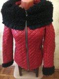 Куртка зимняя эко кожа. Фото 4.