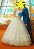 Свадебное платье 44-48 размера. Фото 1.