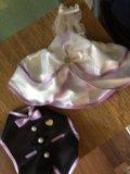 Одежда на бутылку на свадьбу+ползунки. Фото 1.