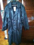 Пальто кожанное(натуральная кожа)весна,осень. Фото 1.