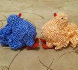 Декоративные вязаные голуби ручной работы. Фото 1.