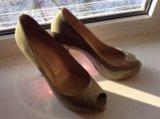 Туфли натуральная кожа лабутен. Фото 1.