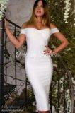 Бандажное платье белого цвета. Фото 1.