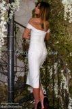 Бандажное платье белого цвета. Фото 3.