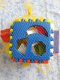 Развивающий кубик. 18 геометрических фигур. Фото 2.