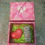 Подарок из 3d мыла - мишка тедди и сердце ❤️. Фото 2.