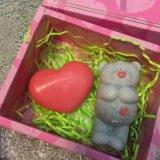 Подарок из 3d мыла - мишка тедди и сердце ❤️. Фото 1.