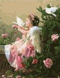"""Раскраска по цифрам """"поцелуй ангела"""". Фото 1."""