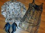Платье и водолазка 48 размер. Фото 1.