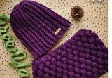 Вязаные шапки, шарфы, снуды, варежки ручной работы. Фото 1.