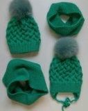 Вязаные шапки, шарфы, снуды, варежки ручной работы. Фото 3.