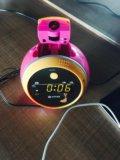 Радио/будильник/часы  с проекцией на стену ⏱. Фото 1.