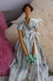 Кукла интерьерная тильда цветочный ангел. Фото 3.