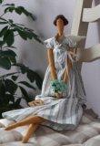 Кукла интерьерная тильда цветочный ангел. Фото 1.