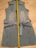 Kamo jeans сарафан джинсовый короткий. Фото 3.
