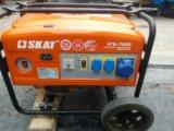 Скат бензиновый генератор 7000 вт. Фото 1.