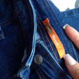 Юбка комбинезон джинсовый. Фото 2.